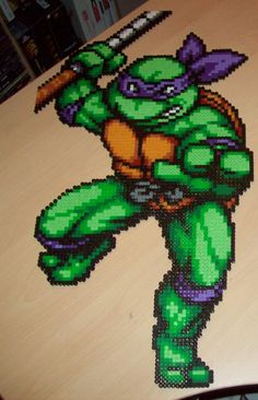 Teenage Mutant Ninja Turtles Large Donatello perler beads by ABeadsCStart