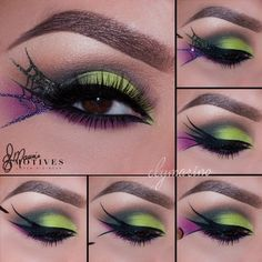 This would make a fun witch eye makeup - Web of Lies by Ely Marino for Motives Cosmetics