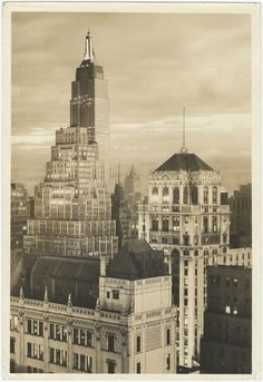 Paul J Woolf Vintage Photo New York City NY Building Skyline Photographer Stamp
