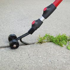 The Weed Snatcher eliminates using chemicals—as well as bending and kneeling on the ground—to get rid of weeds in cracks in places like the driveway, walkway, or patio. The tool's telescoping handle k