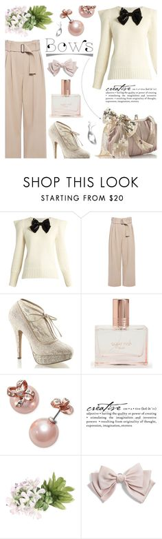 """""""Put a Bow on It!"""" by sarah-crotty ❤ liked on Polyvore featuring Yves Saint Laurent, A.L.C., Pinup Couture, Aéropostale, Kate Spade, WALL, Cara and bow"""