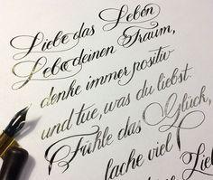 Love your life, live your dreams .... Wonderful Poems in copperplate/ Wunderschöne Gediche in Englischer Schreibschrift geschrieben