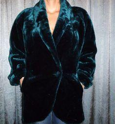 Vintage 80's   DonnyBrook  Emerald Green  Faux by lyndatracyallen