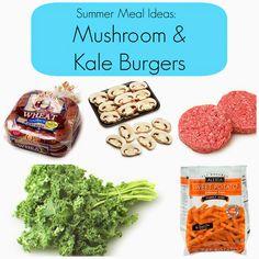 Easy Summer Meal Idea:  Mushroom & Kale Burger Recipe