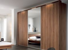Furniture, Sliding Wardrobe Designs With Mirror For Contemporary Bedroom Designs: Latest Designer Wardrobe Trends Ideas 2015