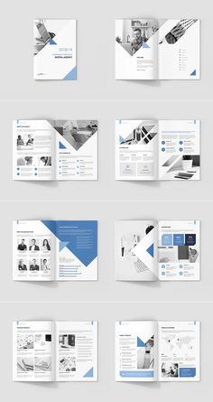 Digital Agency – Company Profile Template Company Profile Design Templates, Company Brochure Design, Broucher Design, Page Layout Design, Graphic Design, Leaflet Design, Booklet Design, Template Brochure, Flyer Template