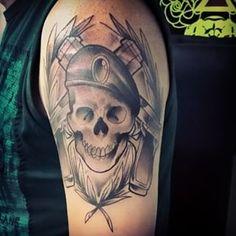Tattoo finalizada  Quem estiver afim de tatuar só entrar em contato: 9 7397-4903 https://www.facebook.com/adamcaostattooart  #art #arte #artwork #sketch #desenho #estudo #rascunho #rabisco #caveira #skull  #policia #police  #neotrad #neotradsub #neotraditional #newtraditionaltattoo #neotraditionaltattoo #tattoo #tatuagem #ink #inked #groovetattoo #brasil #brazil #saopaulo #sp #sptattoo #mairinque #adamcaos