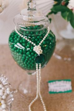 The Couture Candy Buffet Company's styling is so gorgeous, check out this beautiful Wedding Inspiration with Emerald Greens and gold, very Gatsby esque and opulent, so gorgeous~ Photography - Candy Capco Photography Eve 1920s Party, Gatsby Wedding, Wedding 2015, Dream Wedding, Gold Candy, Green Candy, Gold Dessert Table, Kids Spa Party, Emerald Green Weddings