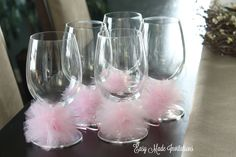 tulle wine glass rings