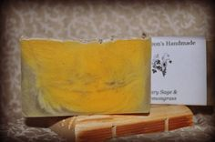 Clary Sage & Lemongrass soap by GideonsHandmade on Etsy, $4.50
