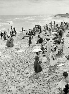 Circa 1910. Bathing at West Palm Beach, Florida.