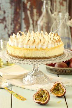 עוגת גבינה עם קארד פסיפלורה  שניתן להמיר בלימון ומרשמלו