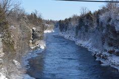 the Black River 5 below zero taken off Brownville bridge