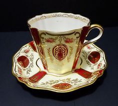 Antique Edwardian Wedgwood English Tea Cup & Saucer
