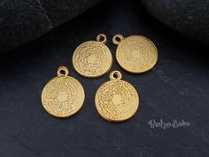 Buy Now 4 Pc Cuneiform Charms Tribal Pendant Mini Coin. Coin Pendant, Buy Now, Coins, Charms, Pendants, Personalized Items, Boho, Earrings, Stuff To Buy