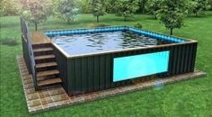 25 Container Swimming Pool Exhilarating Ideas for Fun Summertime ~ Swimming Pool House, Swimming Pool Designs, Swimming Pools, Building A Container Home, Container House Design, Container Homes, Ideas De Piscina, Shipping Container Swimming Pool, Pool Storage