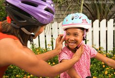 Wearing a helmet can reduce your child's risk of head injury by as much as Our pediatrician offers tips for choosing the best one — and for getting your pint-sized biker to wear it! Head Injury, Brain Injury, Cycling Helmet, Bicycle Helmet, Post Concussion Syndrome, Post Pregnancy Workout, Kids Helmets, Getting Back In Shape, Cleveland Clinic