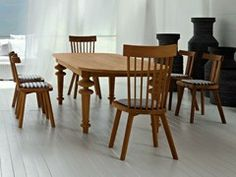 Oval wooden dining table INOUT 737 - Gervasoni