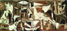 """Palm Sunday; """"The Collective Dark Night of The Soul.""""  Pablo Picasso's """"Guernica,"""" painted in reponse to the Nazi bombings during The Spanish Civil War.  Watch the first 2.5 minutes of this Youtube for context. http://www.youtube.com/watch?v=eNC92dP_RRc  Here is an artistic critique of the same painting, http://www.youtube.com/watch?v=-7NGmk0D17Q For context click the link in the upper right hand corner. Use the Viso Divina below if you wish.  It helps to open the image in another window."""