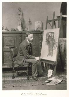 John Wm. Waterhouse at his easel