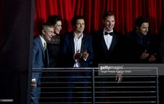 Martin Freeman, Evangeline Lilly, Orlando Bloom, Benedict Cumberbatch and richard Armitage attend the German premiere of the film 'The Hobbit: The Desolation Of Smaug' (Der Hobbit: Smaugs Einoede) at Sony Centre on December 9, 2013 in Berlin, Germany.
