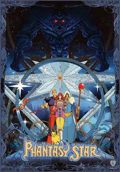 Phantasy Star is an official limited edition print drawn by Kilian Eng (DW Design) based on the classic SEGA game series Phantasy Star™. Kilian Eng made Sega Video Games, Retro Video Games, Retro Games, Video Game Posters, Video Game Art, Retro Gaming Wallpaper, Sega Classic, Kilian Eng, 8 Bits