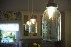 mason jar pendant light - Kitchen