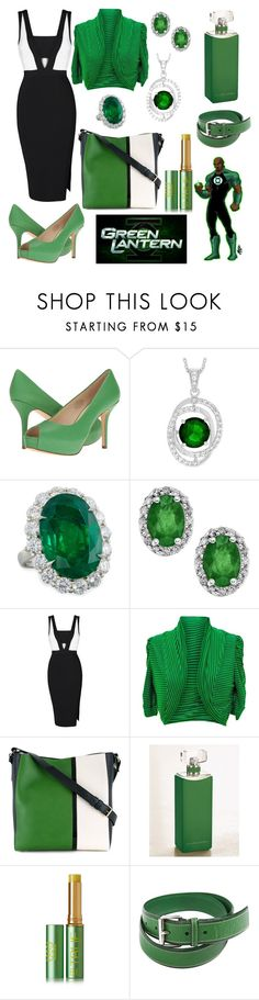 """""""Justice League Office Fashion: Green Lantern"""" by gabbie-glorious ❤ liked on Polyvore featuring Nine West, Journee Collection, Diana M. Jewels, jon & anna, Lanvin, Ralph Lauren, Tata Harper and Jil Sander"""