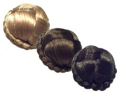 SMALL PLAITED PLAIT CLIP IN ON DOME HAIR BUN PIECE UPDO HAIR EXTENSION   eBay****for crispinettes!****