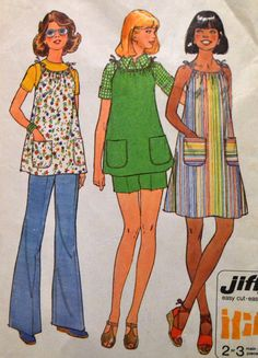 Vintage Sewing Pattern Simplicity 7551 Misses' Maternity Dress, Pants, and Shorts   Bust 36 inches Complete by GoofingOffSewing on Etsy
