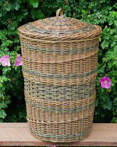 willow hamper made by Katherine Lewis from farm grown willows