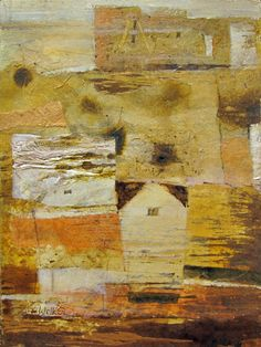 SOLD Touch of Gold 1 Mixed Media on Paper