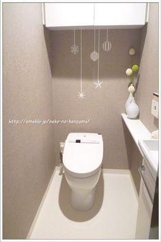 ameblo.jp Bathroom Closet, Washroom, Bathroom Interior, Toilet Tiles, Small Apartment Design, Small Toilet, Powder Room, Home Decor, Rest Room