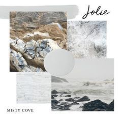 Jolie Paint in MISTY COVE is a cool, mid-tone grey. It is a transitional color that changes depending on how the light hits it, catching glimpses of muted green and blue undertones. This color was inspired by the beautiful rocks found along the coast of Malibu, California. COVERAGE: One quart covers approximately 150 square feet. One 4oz sample covers approximately 18.8 square feet. Actual coverage may vary depending on surface and application. Paint Colors For Home, House Colors, Beautiful Rocks, Painted Floors, Studio S, Color Stories, House Painting, Chalk Paint, Cool Stuff