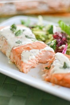 Salmon with Creole Mustard Sauce