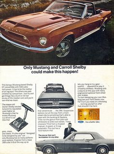 1968 Ford Mustang Shelby Ad from Road & Track April 1968 Mustang Gt500, Ford Mustang Shelby, Ford Gt, 1968 Mustang, Mustang Cars, Ford Mustangs, Shelby Gt500, Auto Ford, Classic Mustang