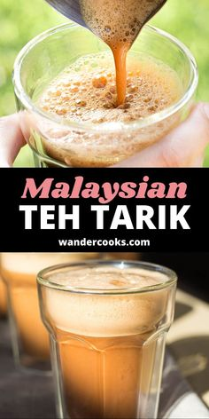 """This Southeast Asian sweet drink, locally known as teh tarik or """"pulled tea"""", is a blast to make. Test your pouring skills to the max for the perfect froth on top of this addictive bitter sweet teh tarik recipe. Easy Weeknight Meals, Easy Meals, 5 Minute Meals, Ice Milk, New Flavour, World Recipes, Sweet Desserts, International Recipes, Bitter"""