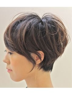 I soooooo wish my hair could do this. Long pixie cut