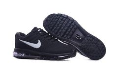 7d824950097 Nike Air Max 2017 Leather Black White Running Shoes(36-46) Nike Shoes