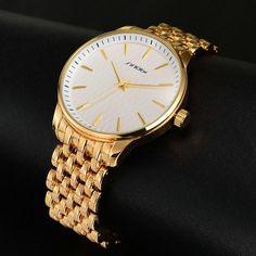 cbeff3d8d8f Luxury Secret Black Quartz Watch Men Full Steel band Business Casual SINOBI  Wristwatch