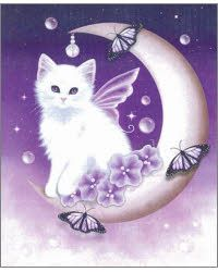 Items similar to SALE White Cat Art Print // Cat on Moon // Twilight Moon Pearls - on Etsy I Love Cats, Cute Cats, Twilight Moon, Cat Art Print, Cat Drawing, Cats And Kittens, Cat Lovers, Cute Animals, Cross Stitch