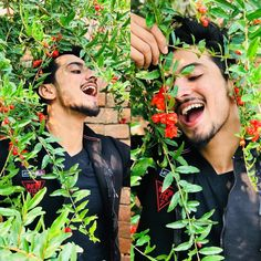 Image may contain: 2 people, people standing, beard and plant Cute Boy Photo, Photo Poses For Boy, Dear Crush, My Crush, Musically Star, Latest Bridal Mehndi Designs, Chocolate Boys, Teen Celebrities, Social Media Stars