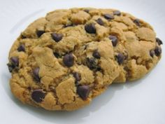 Homestyle Chocolate Chip Cookies.  My most popular cookie recipe, it broke down vegan cookie barriers!  This IS your go-to chocolate chip cookie recipe, vegan or not.  (GF version also on my page)