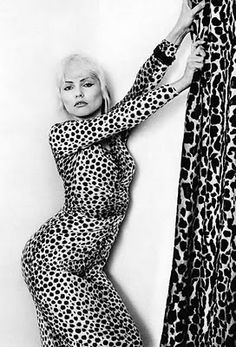 The bleach! The leopard print! Matching curtains! Just beautiful.  Debbie Harry  - pretty and blonde yet raw, cool, feisty and innovative.   Hell, yes!