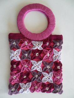 Free pattern colourfull Flower bag