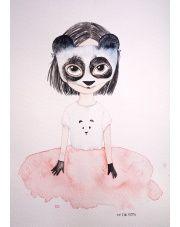 Plakat Panda - To The Moon