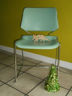 Vintage 1979 Krueger Matrix Dining Side Chair, Seafoam Green And Stainless  Steel