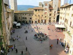 Piazza della Cisterna  ~ San Gimignano, Siena, Italy ~
