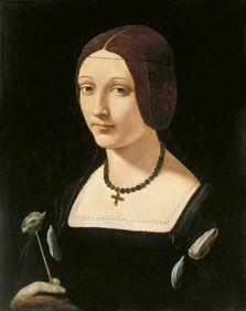 Retrato de una dama como santa Lucía, Giovanni Antonio Boltraffio ,siglo XVI