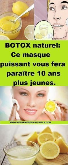 BOTOX naturel: Ce masque puissant vous fera paraître 10 ans plus jeunes. Face Care, Body Care, Healthy Beauty, Healthy Skin, Beauty Care, Beauty Hacks, Instant Weight Loss, Serum, Tanning Cream